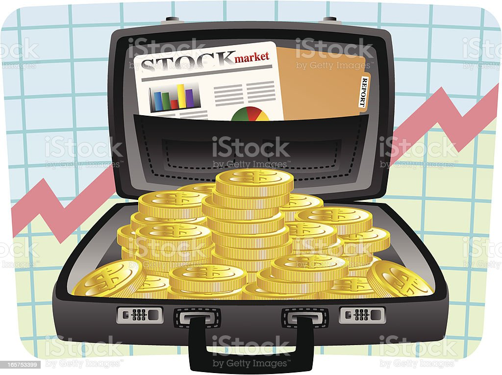 Case full of coins royalty-free case full of coins stock vector art & more images of briefcase