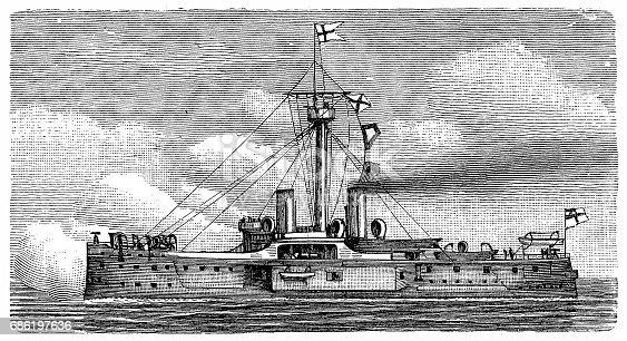 Illustration of Casemata ship with entrances