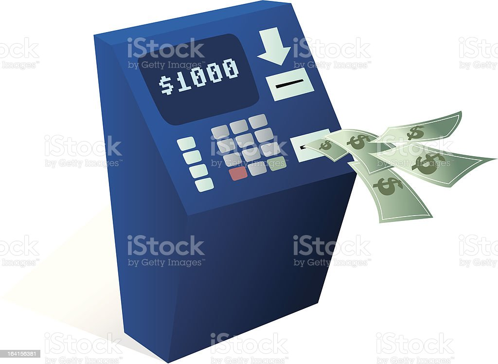 ATM Cash dispenser royalty-free stock vector art