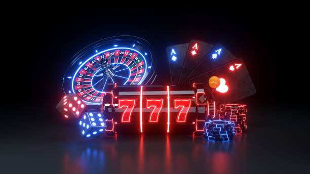 Casino Gambling Concept - 3D Illustration Casino Gambling Concept on The Black Background, 3D Illustration casino stock illustrations