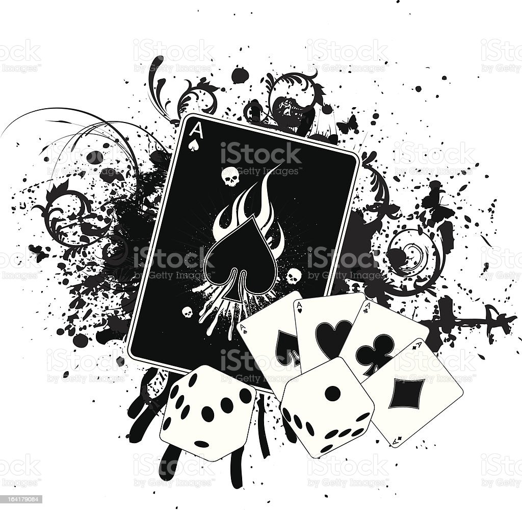 Casino Grunge vector art illustration