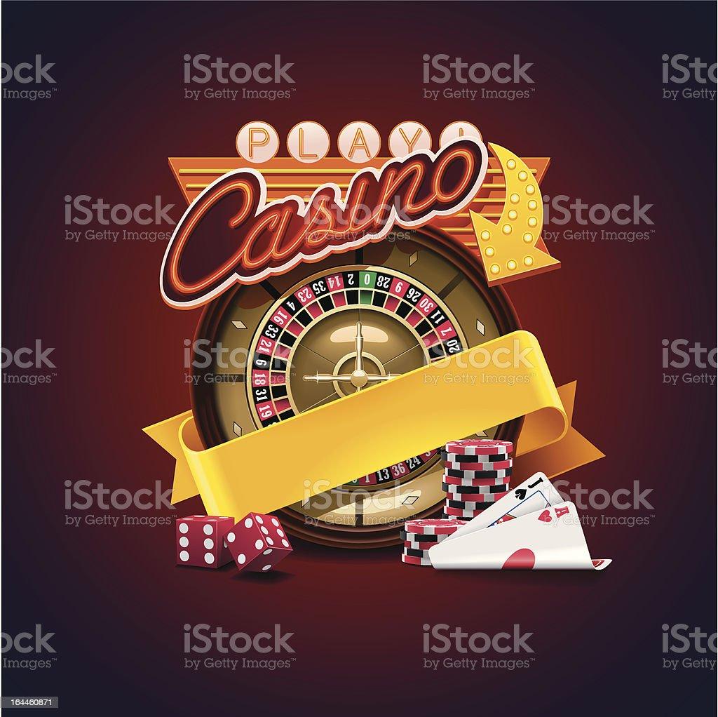 Casino icon vector art illustration