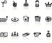 Casino features related vector icons for your design and application.