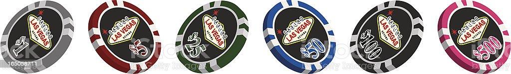 Casino Style Poker Chips royalty-free stock vector art
