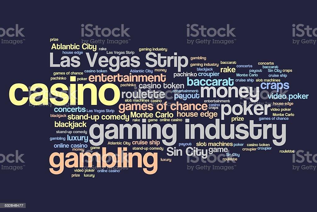 Casinos vector art illustration
