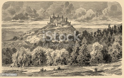 Illustration of a Castle of Hohenzollern