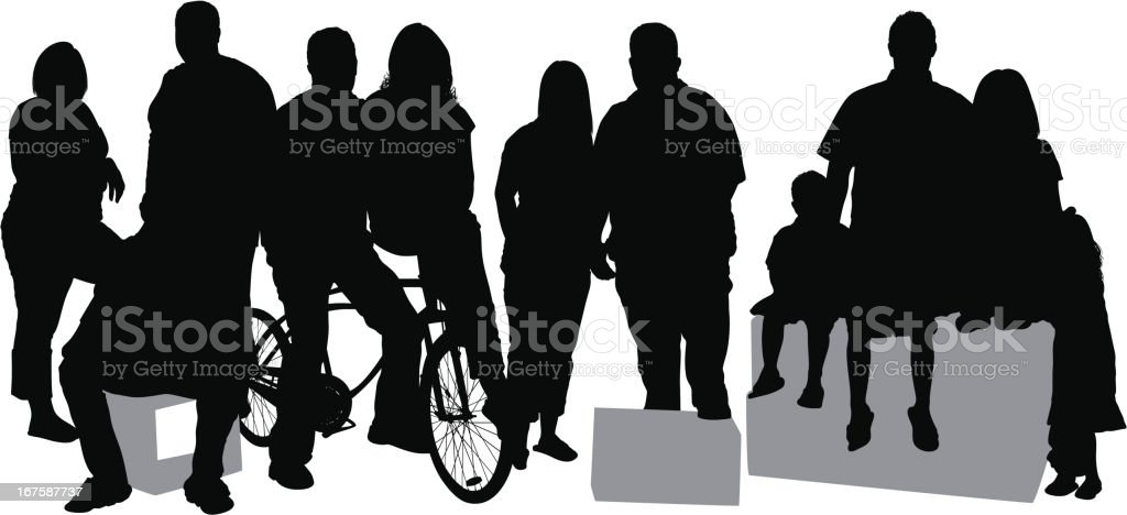 Casual people on street royalty-free stock vector art