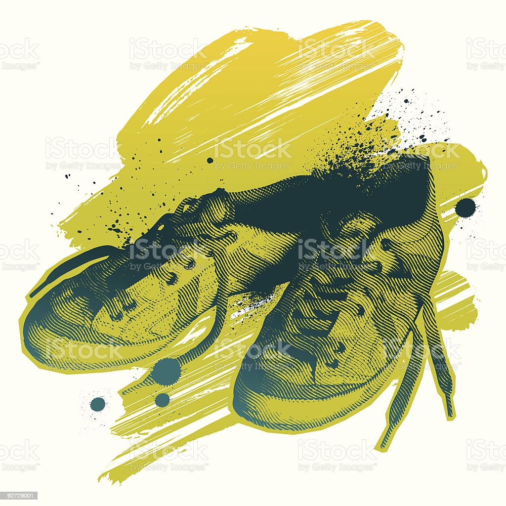 Casual shoes royalty-free stock vector art