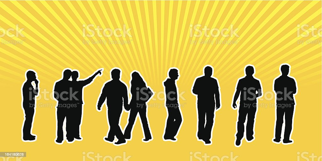 Casual Vector People 01 vector art illustration