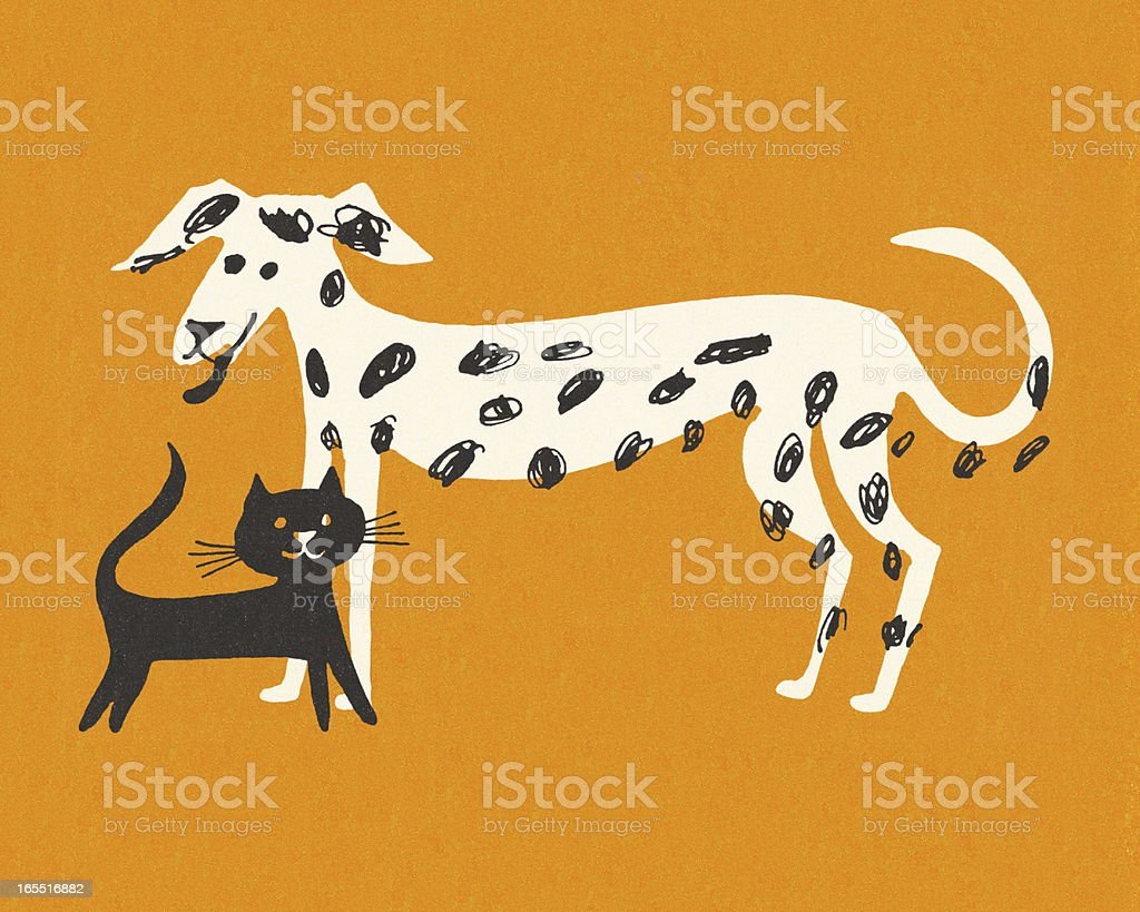 Cat and Dog royalty-free cat and dog stock vector art & more images of animal