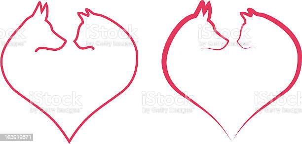 Cat and dog in red heart vector illustration id163919571?b=1&k=6&m=163919571&s=612x612&h=bcjcpphrwz9a 4fwyhvdxryl dknz ve0iuyzmdwfug=