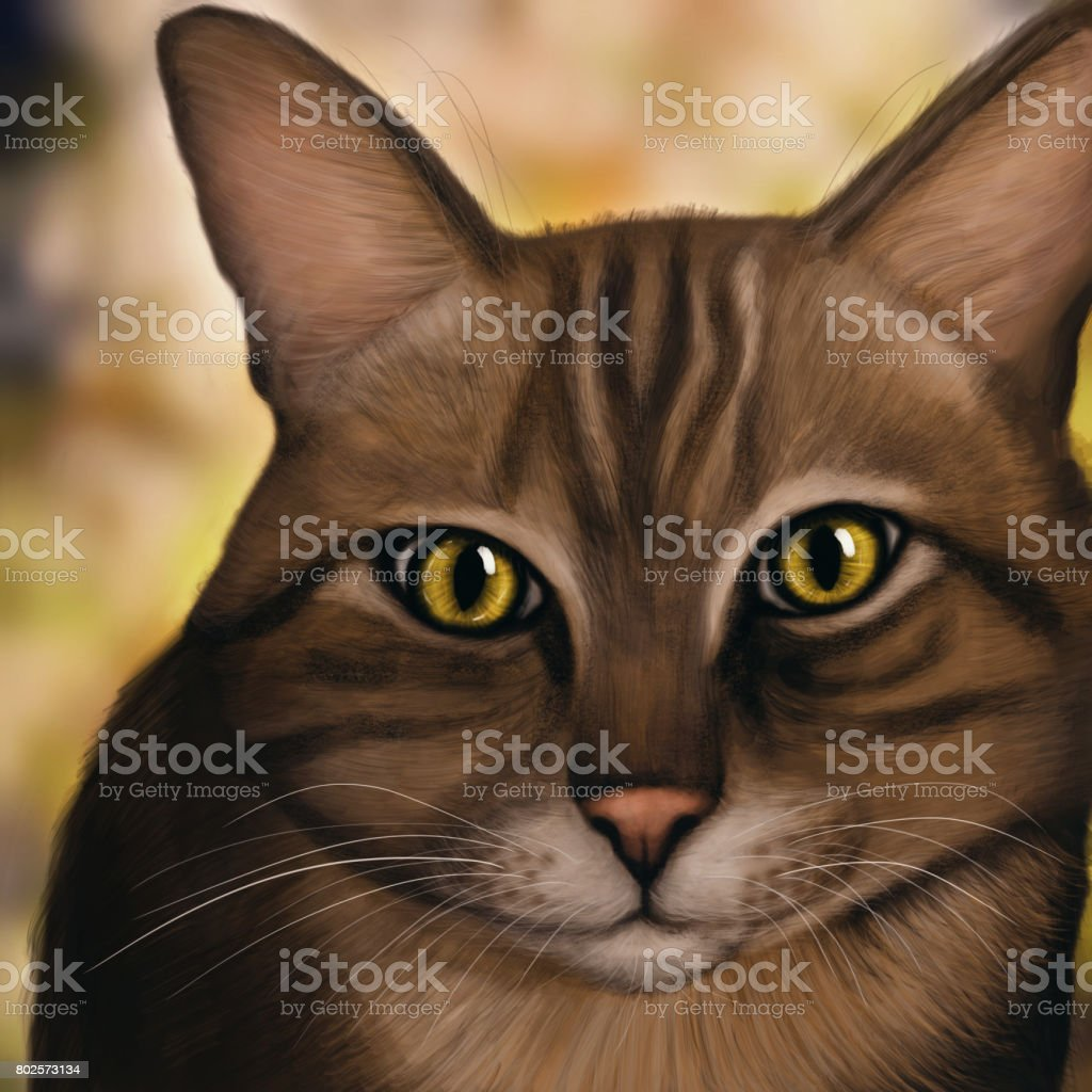 Kedi Dijital Boyama Stok Vektor Sanati Almanya Nin Daha Fazla