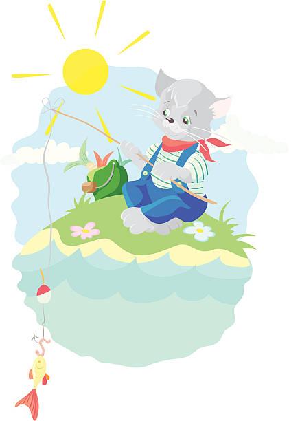 猫・ フィッシャー - 花のボーダー点のイラスト素材/クリップアート素材/マンガ素材/アイコン素材