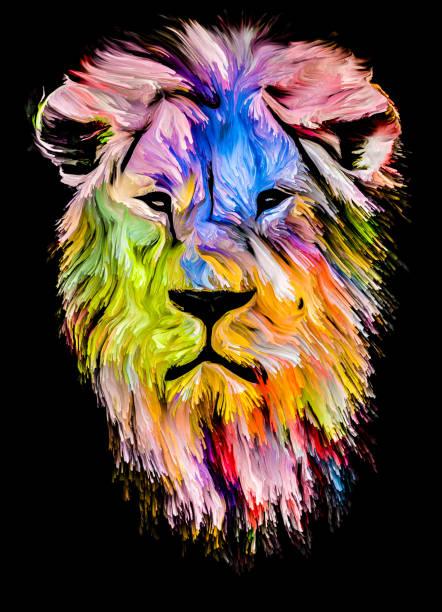 Cat of Color vector art illustration