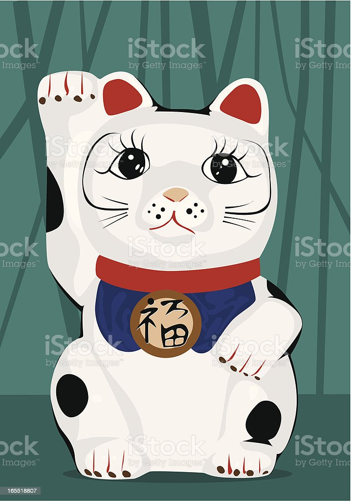 Cat of Good Fortune royalty-free stock vector art