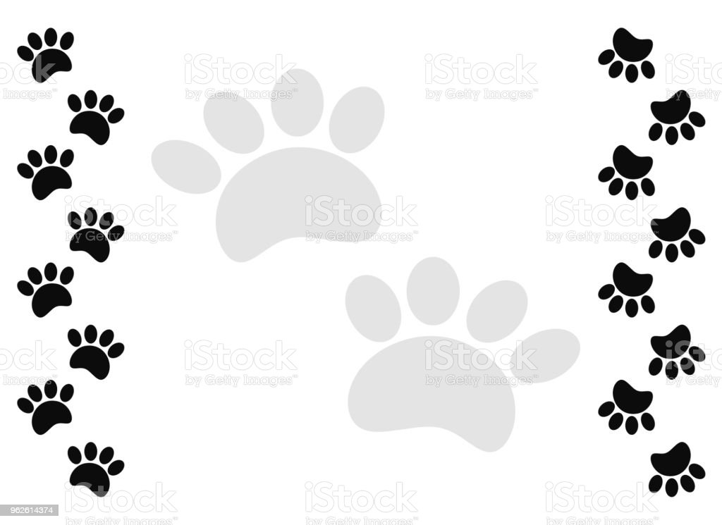 Nice Paw Print Frame Motif - Picture Frame Design - stoneyville.net