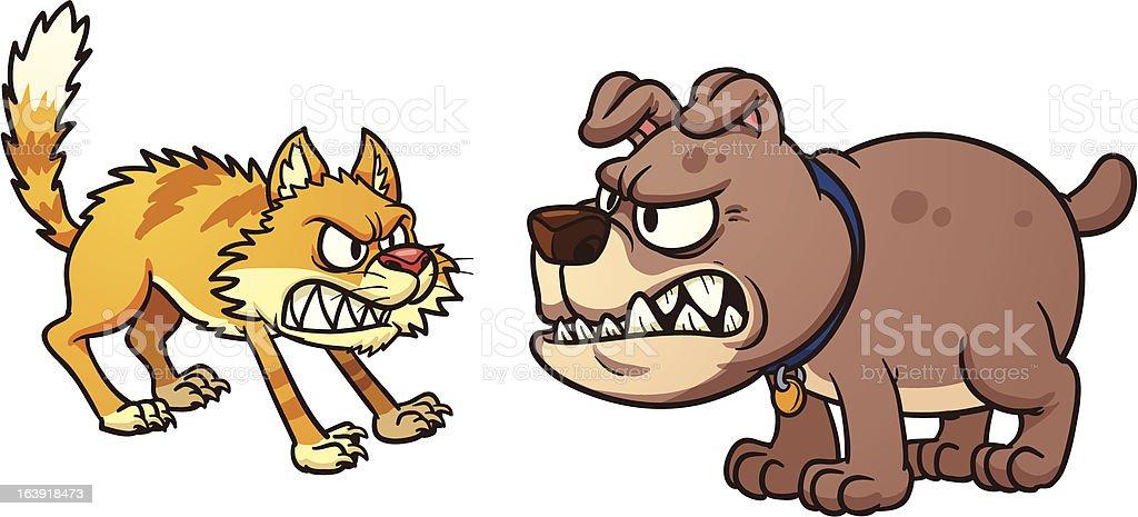 Cat Vs Dog Stock Illustration Download Image Now Istock