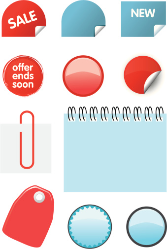 Catalogue Price Elements Icon Set Stock Illustration - Download Image Now