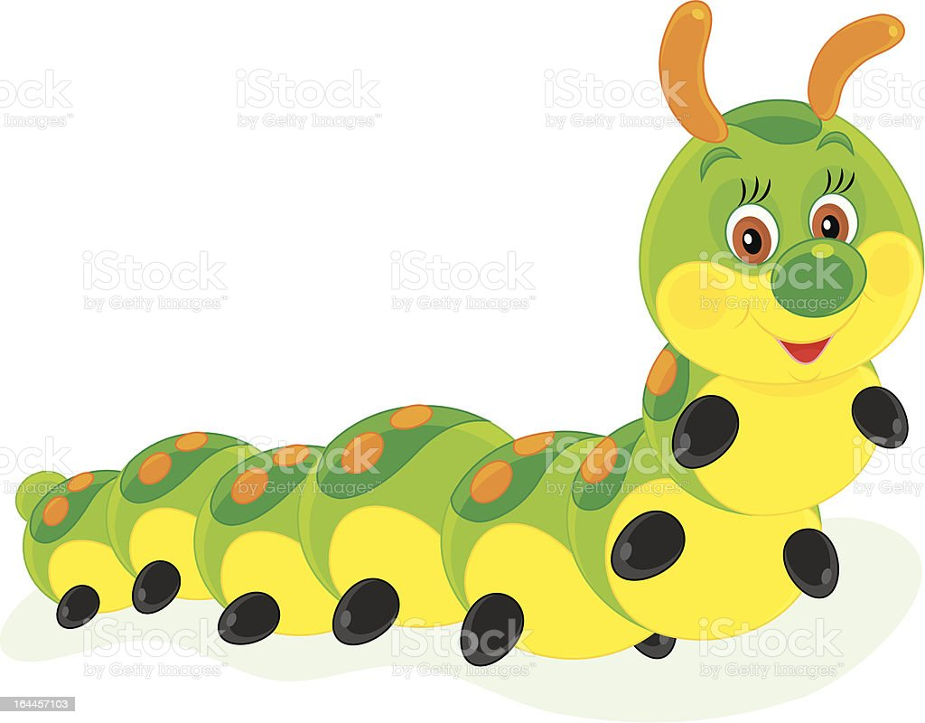 Caterpillar vector art illustration
