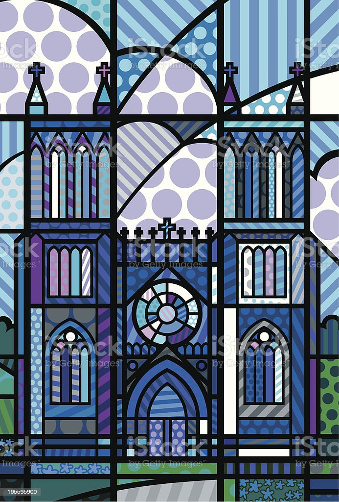 Cathedral In Blue royalty-free cathedral in blue stock vector art & more images of abbey - monastery