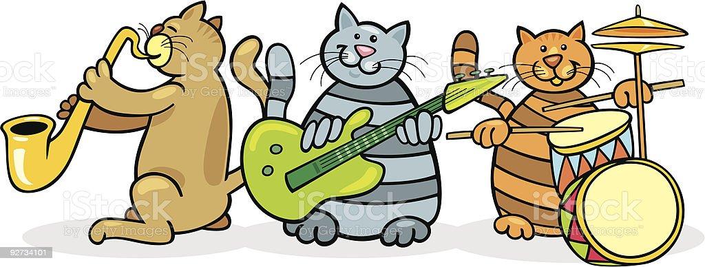 Katzen-band Lizenzfreies katzenband stock vektor art und mehr bilder von aufführung