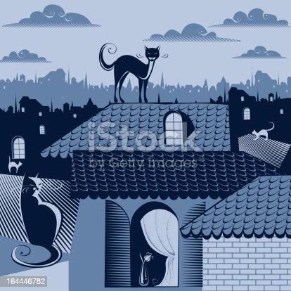 istock cats on the roofs 164446782