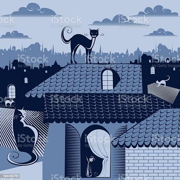 Cats on the roofs illustration id164446782?b=1&k=6&m=164446782&s=612x612&h=hjwpeyzzlqj092 6qnwggc2qpw3icri683a45kgnw8y=