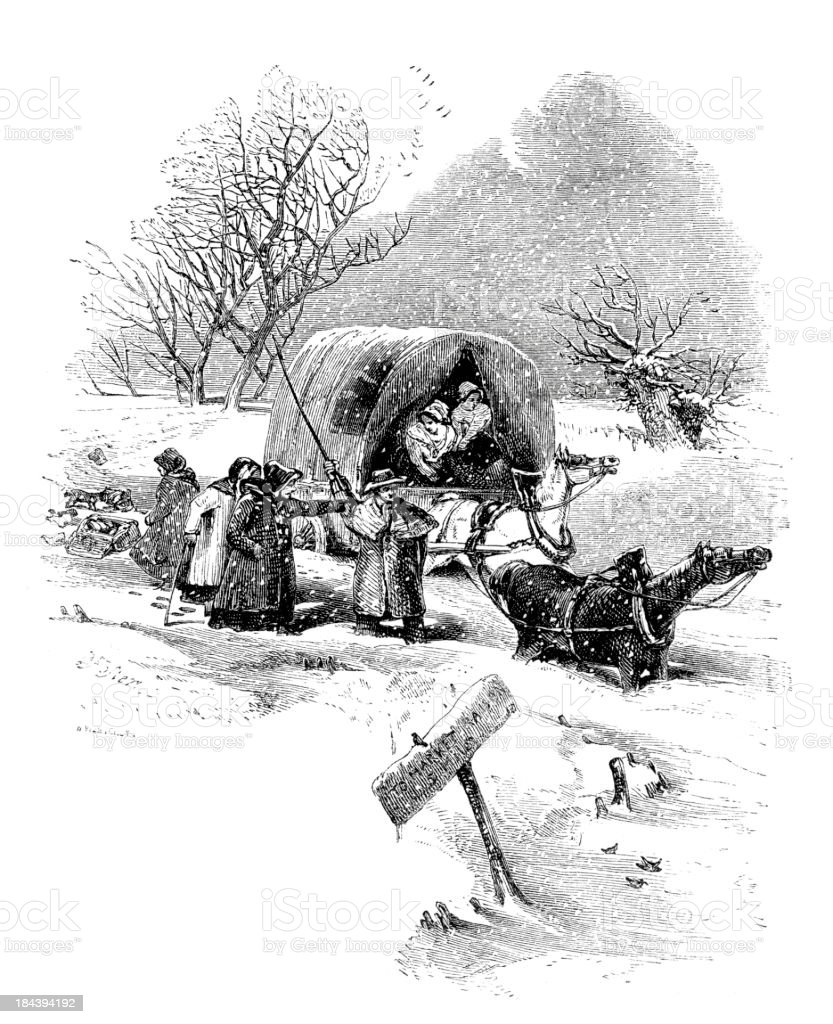 Caught in the snow royalty-free caught in the snow stock vector art & more images of 19th century