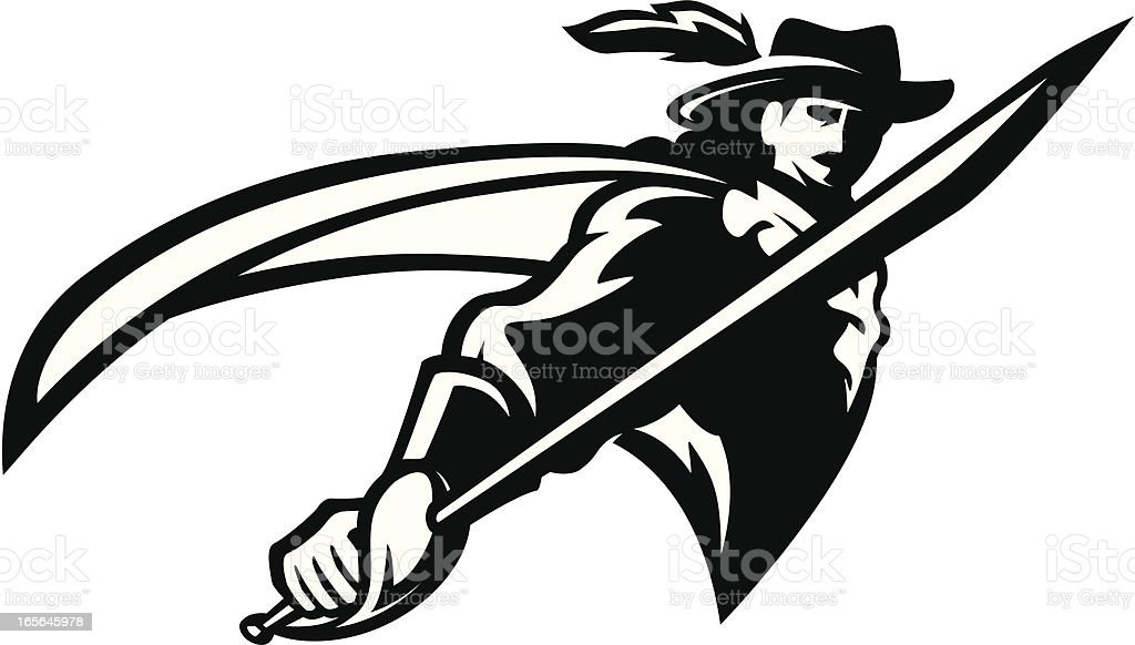 cavalier mascot bw stock vector art more images of adult 165645978 rh istockphoto com free tiger mascot clipart free mascot clipart downloads
