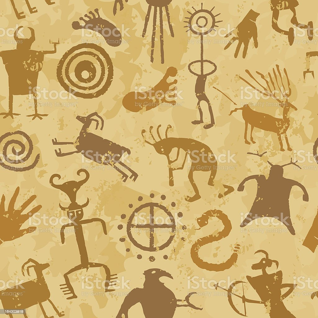 Cave Paintings vector art illustration