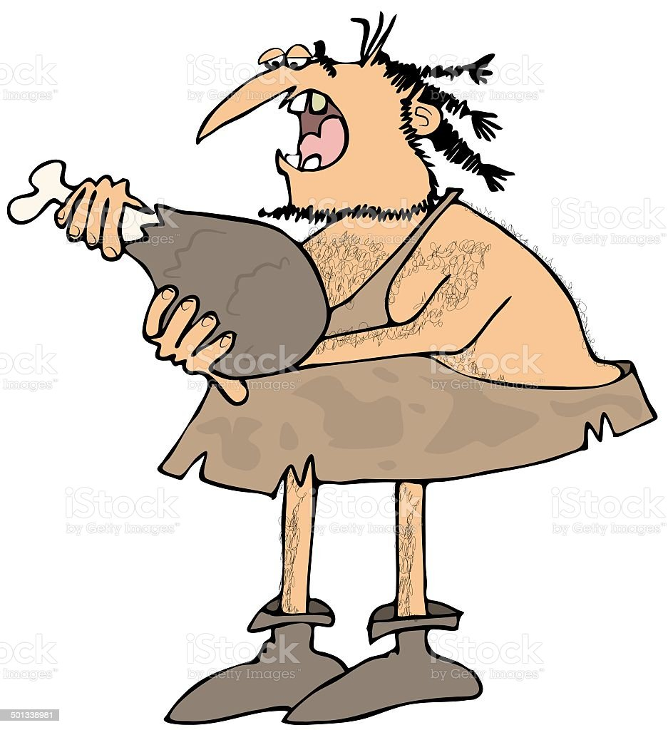 Caveman eating a large drumstick royalty-free caveman eating a large drumstick stock vector art & more images of adult