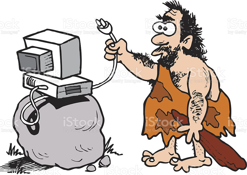 Caveman using a computer royalty-free caveman using a computer stock vector art & more images of careless