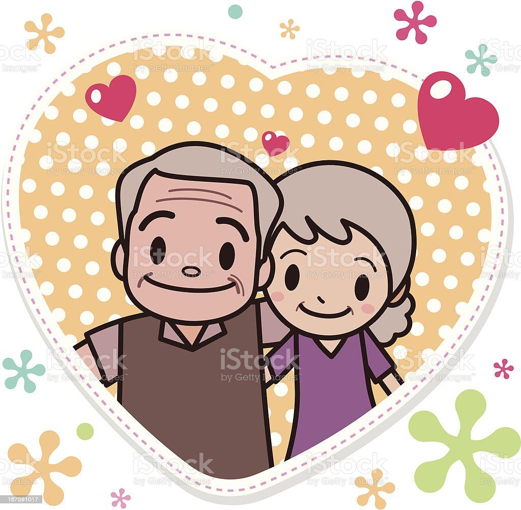 Celebrating Senior Love vector art illustration