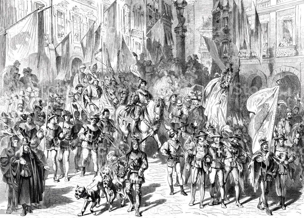 ムルテンの戦い 1876 年 400 年のお祝い - 1877年のベクターアート素材 ...