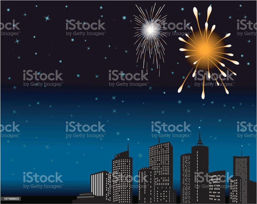 Celebrations - City fireworks royalty-free celebrations city fireworks stock vector art & more images of 2012