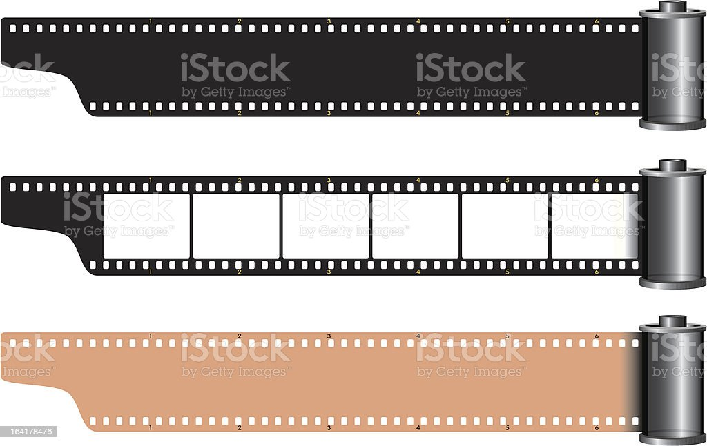 Celluloid film frames royalty-free stock vector art