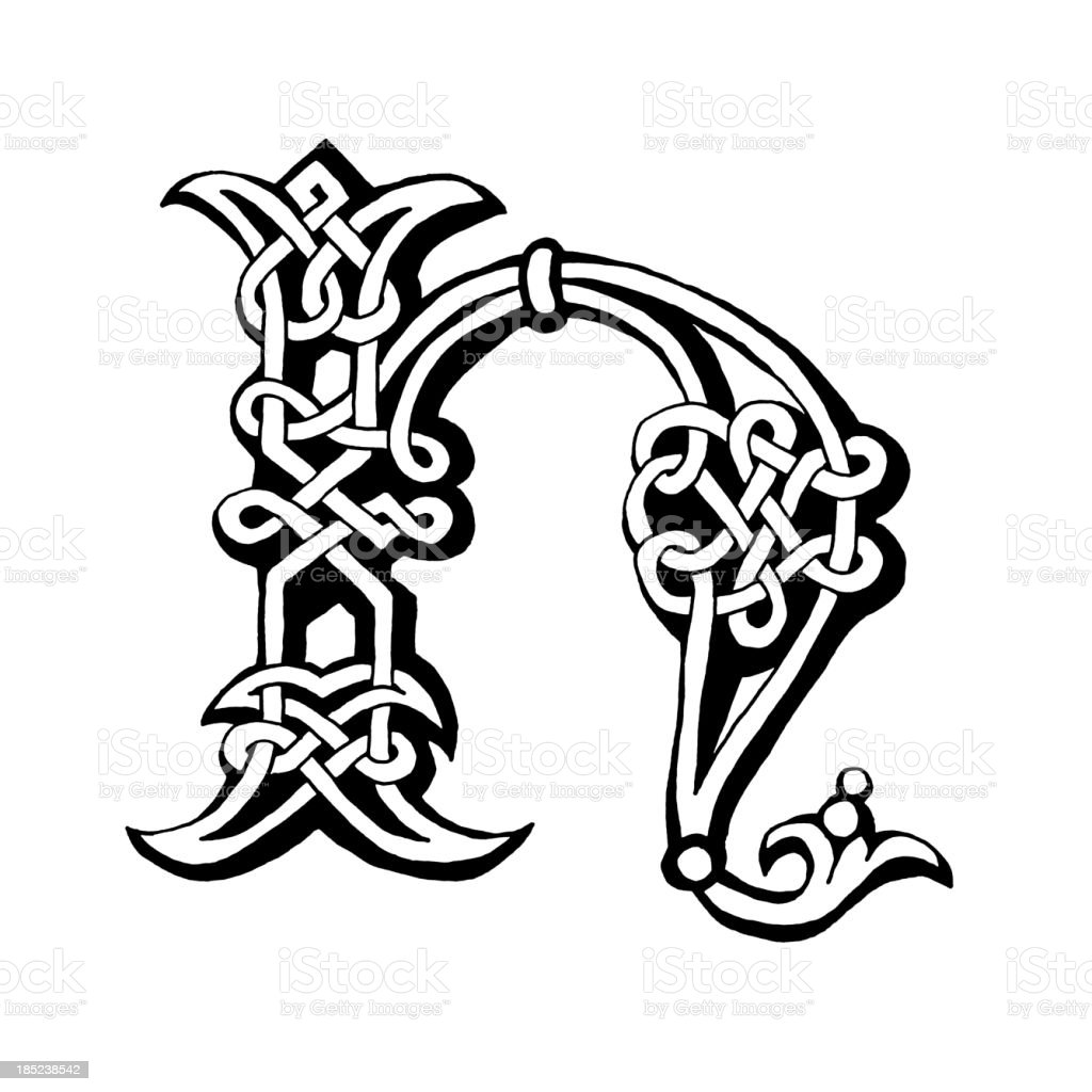Celtic Letter H Royalty Free Stock Vector Art Amp More Images