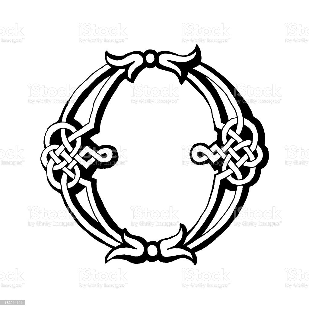 Celtic Letter O Stock Vector Art More Images Of Alphabet 185214111