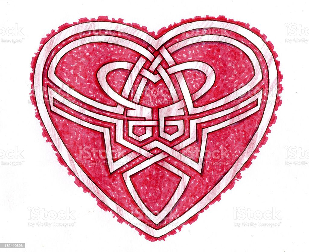 Celtic style Valentines heart royalty-free stock vector art