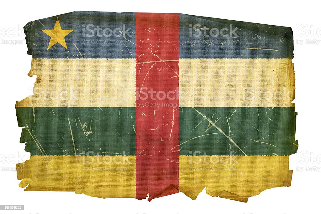 Central African Republic Flag old, isolated on white background. royalty-free central african republic flag old isolated on white background stock vector art & more images of aging process