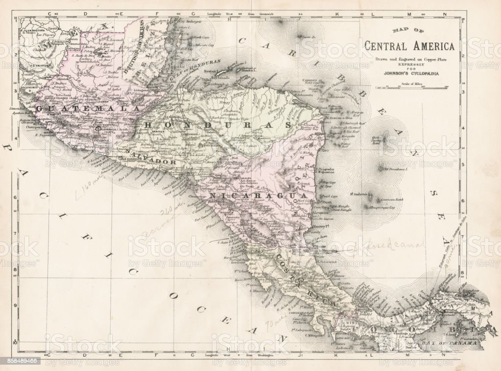 Central America map 1893