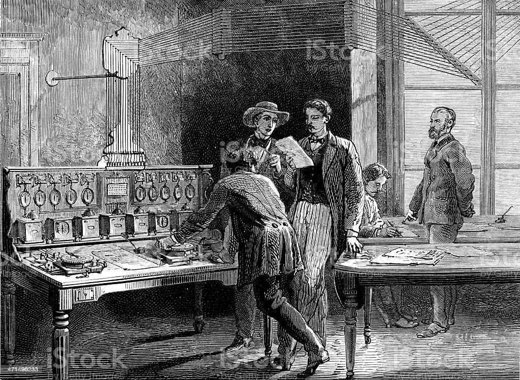 Central Telegraph royalty-free stock vector art