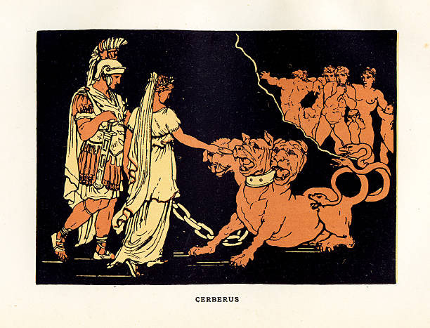Cerberus vector art illustration