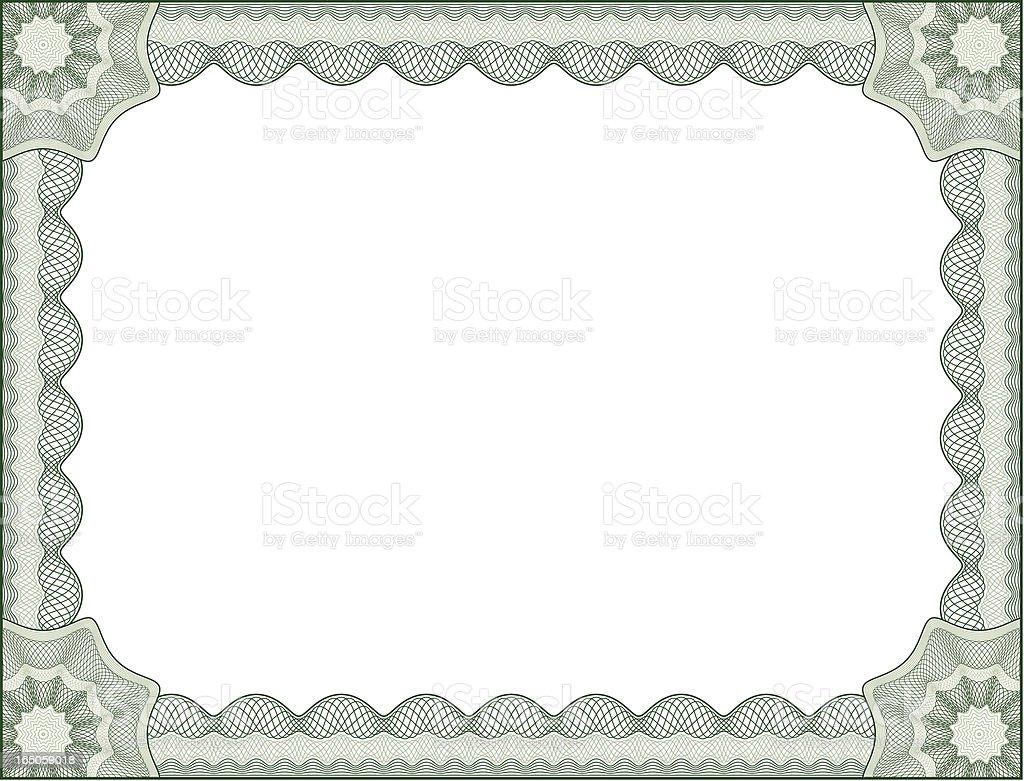 Certificate border letter size stock vector art more images of award 165059018 istock for Certificate border vector