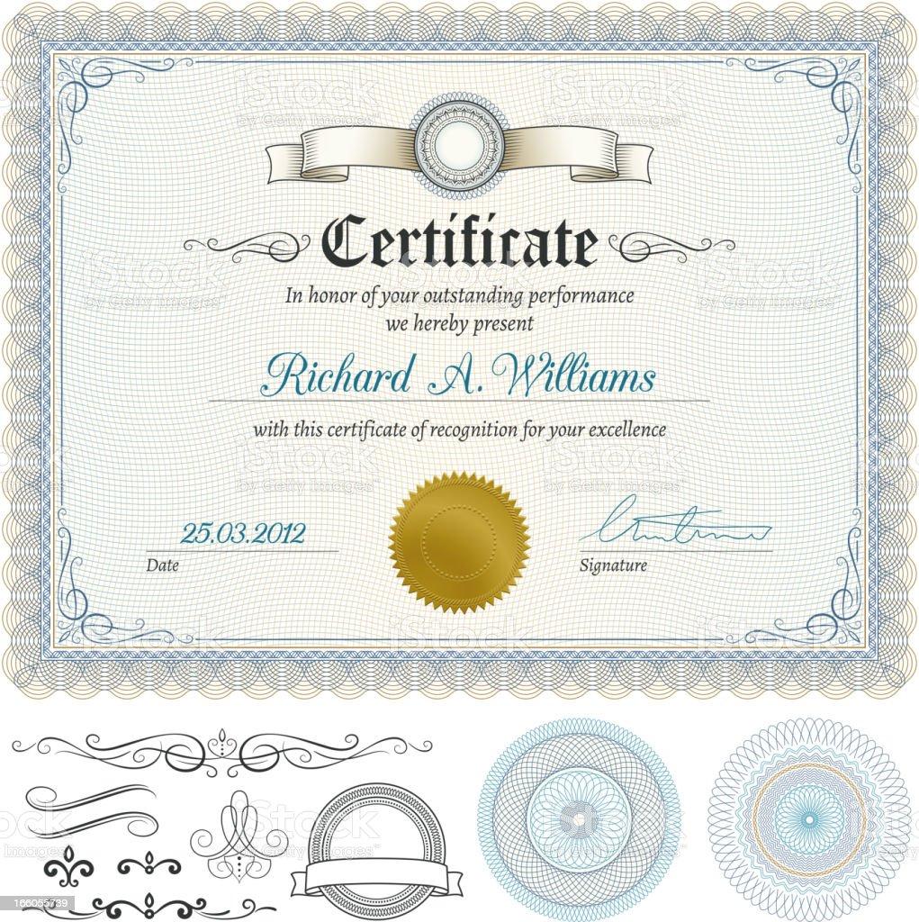 Certificate vector art illustration