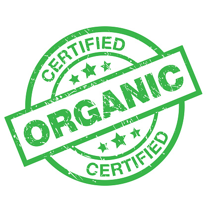 Certified Organic Label Stock Illustration - Download Image Now