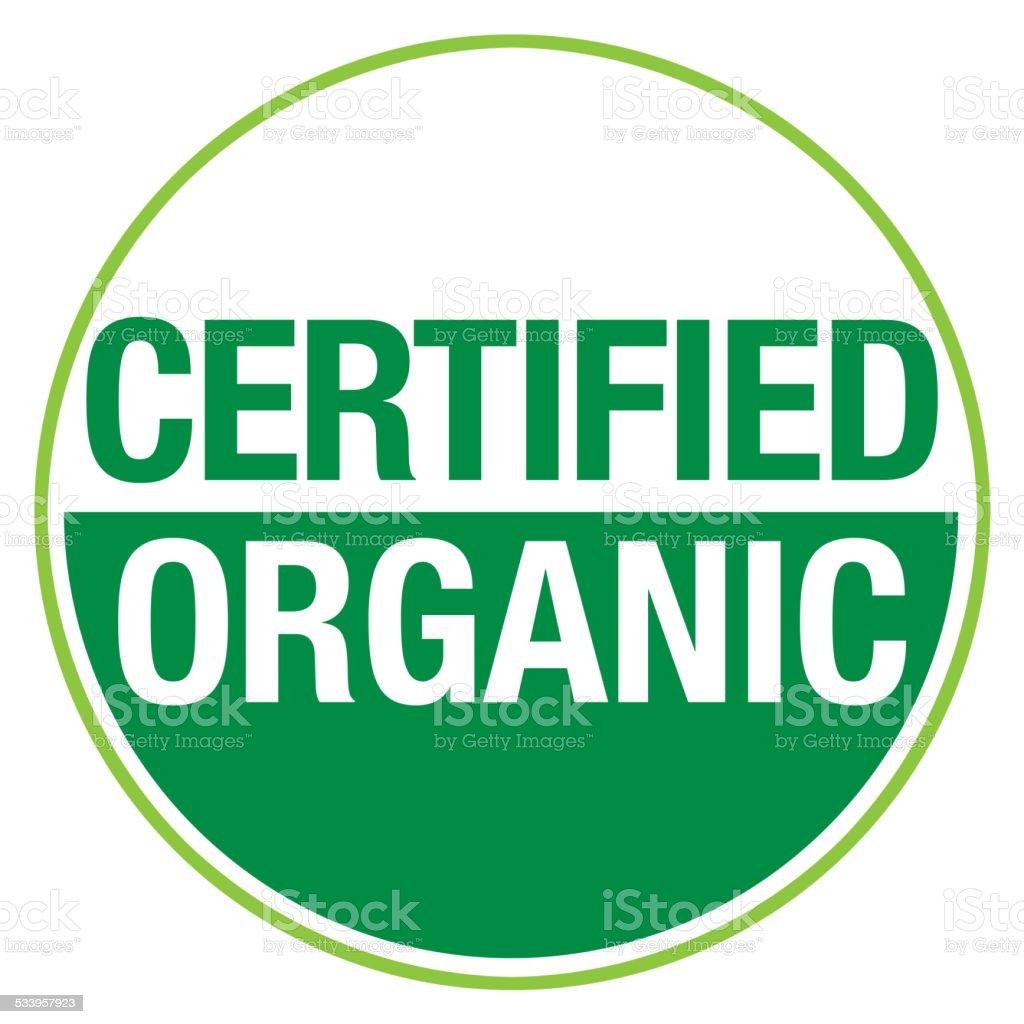 Certified Organic Symbol vector art illustration