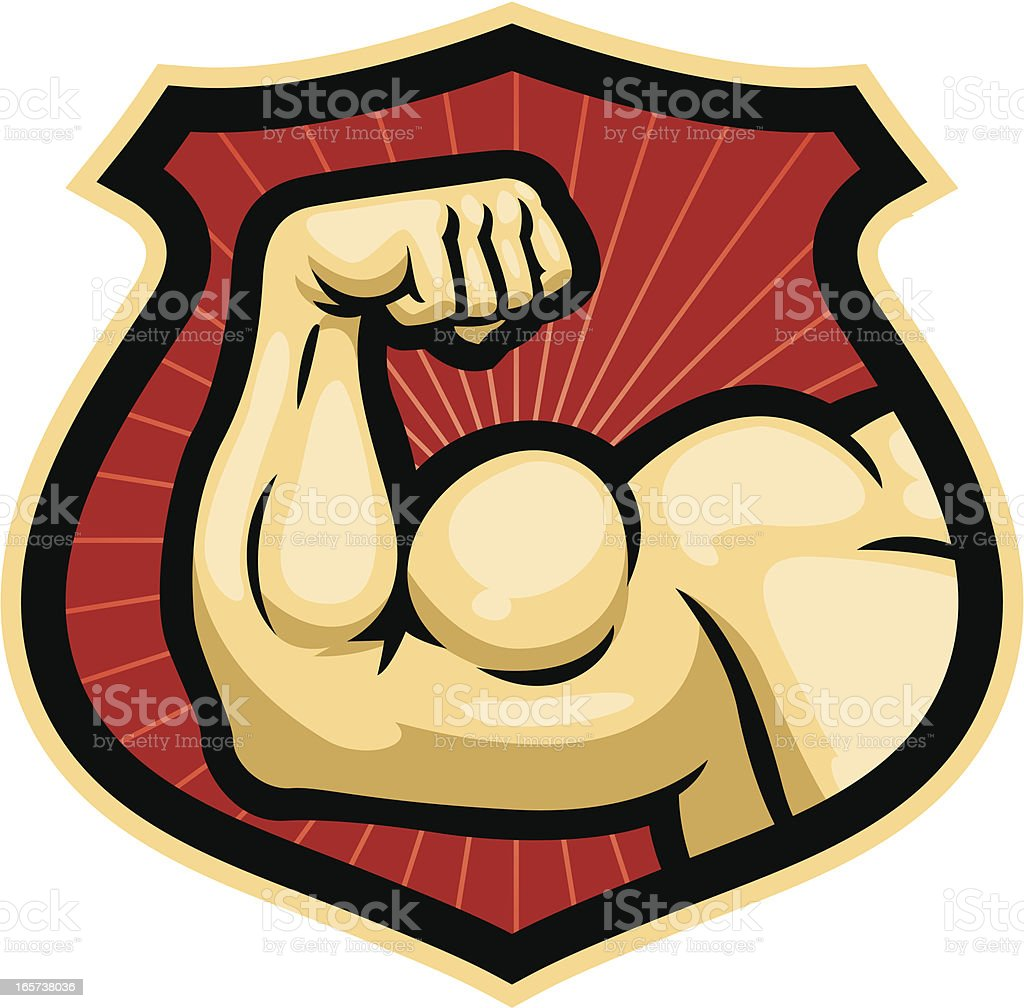certified strong vector art illustration