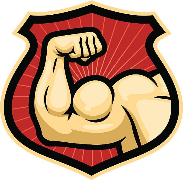 certified strong vector art illustration