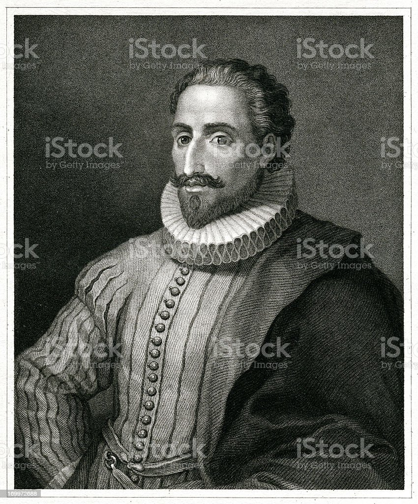 Cervantes royalty-free stock vector art